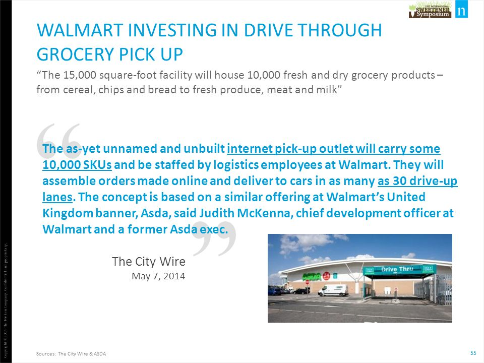Walmart investing in drive through grocery pick up