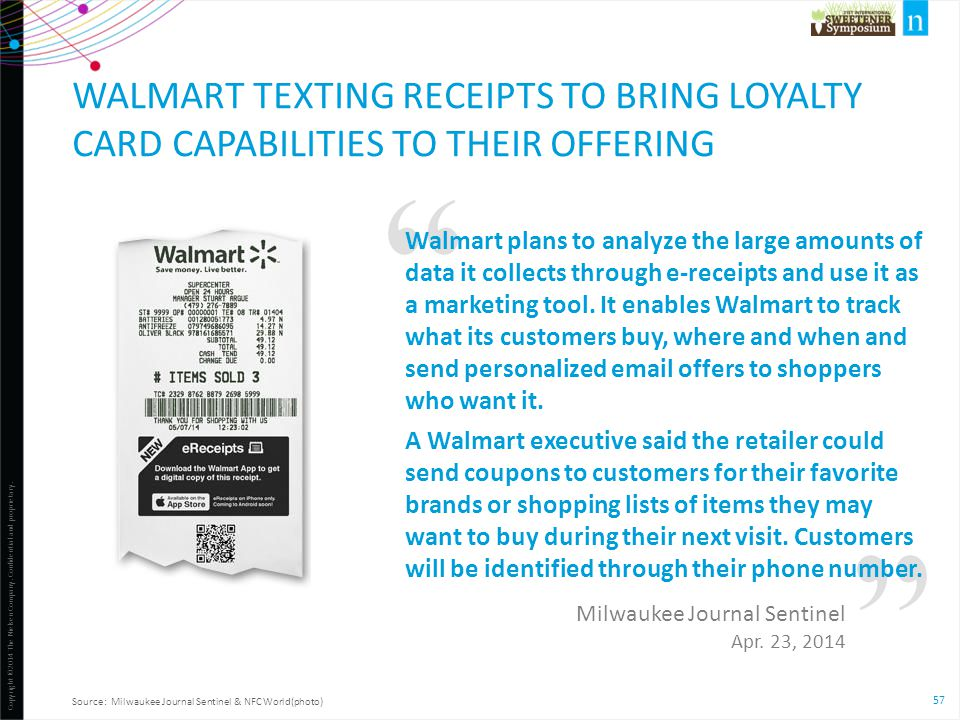 Walmart texting receipts to bring loyalty card capabilities to their offering