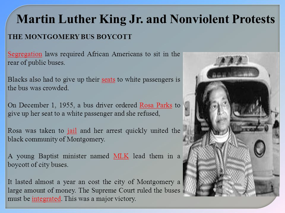 Martin Luther King Jr. and Nonviolent Protests