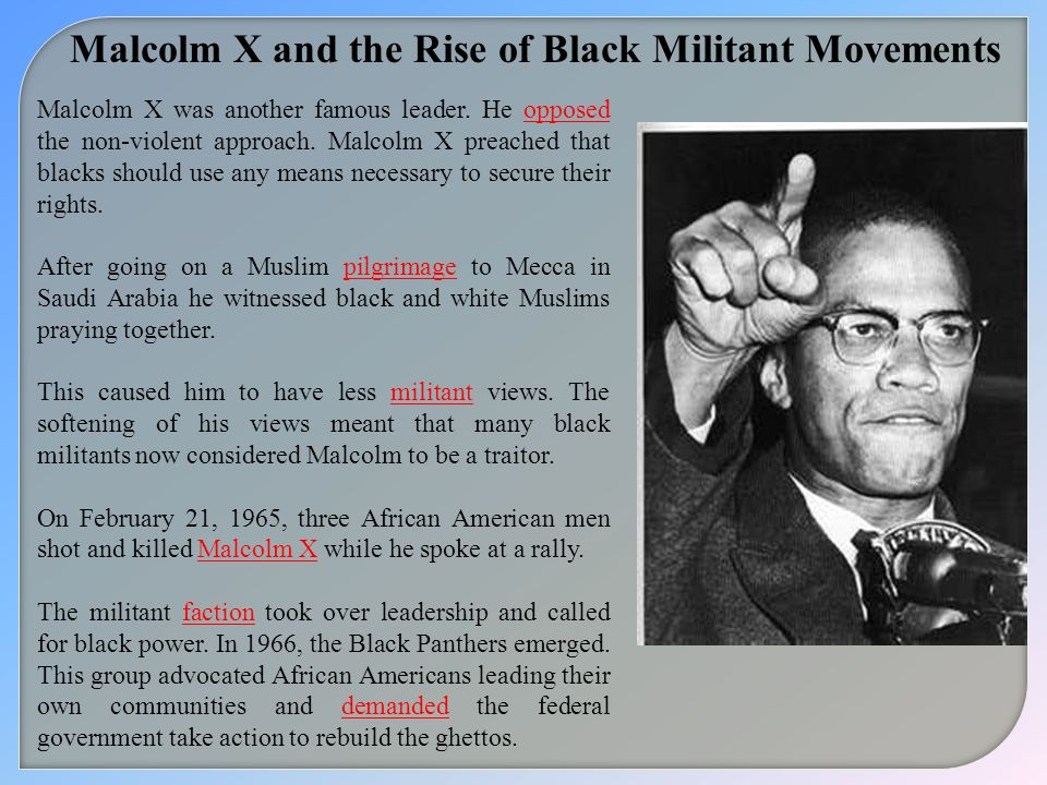 Malcolm X and the Rise of Black Militant Movements
