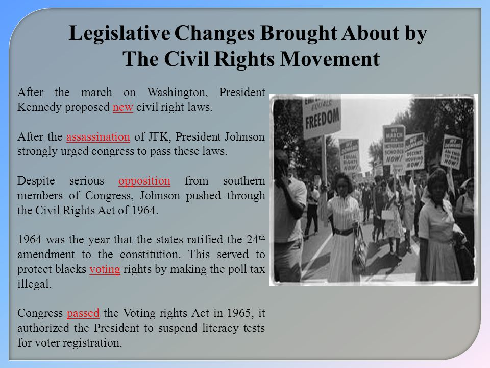 Legislative Changes Brought About by The Civil Rights Movement