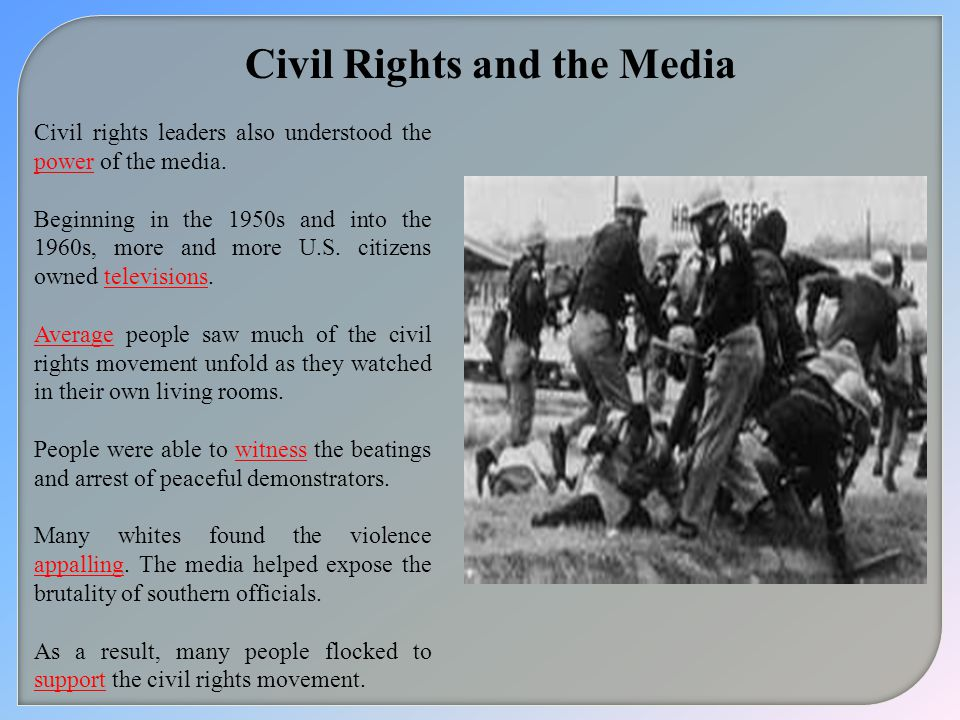 Civil Rights and the Media