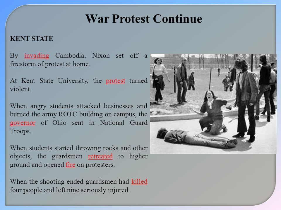 War Protest Continue KENT STATE