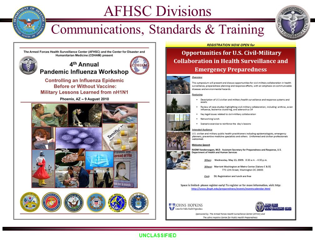 Communications, Standards & Training