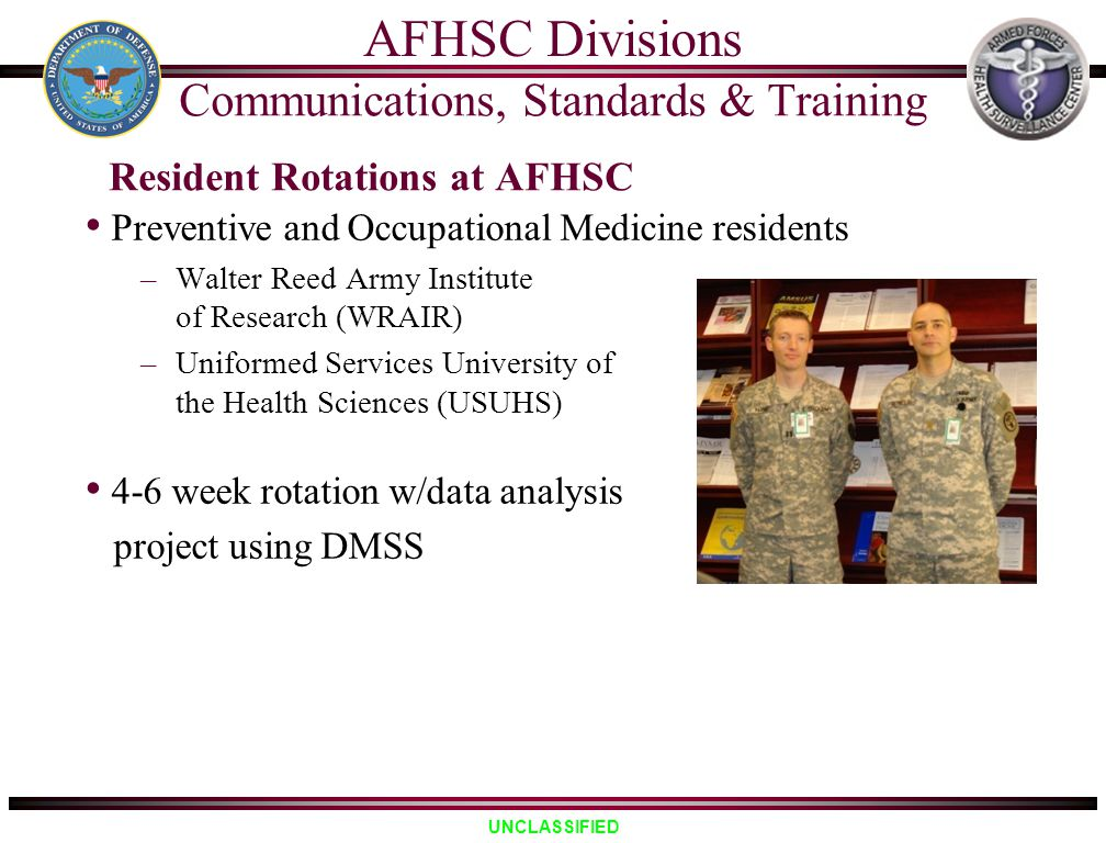 Resident Rotations at AFHSC