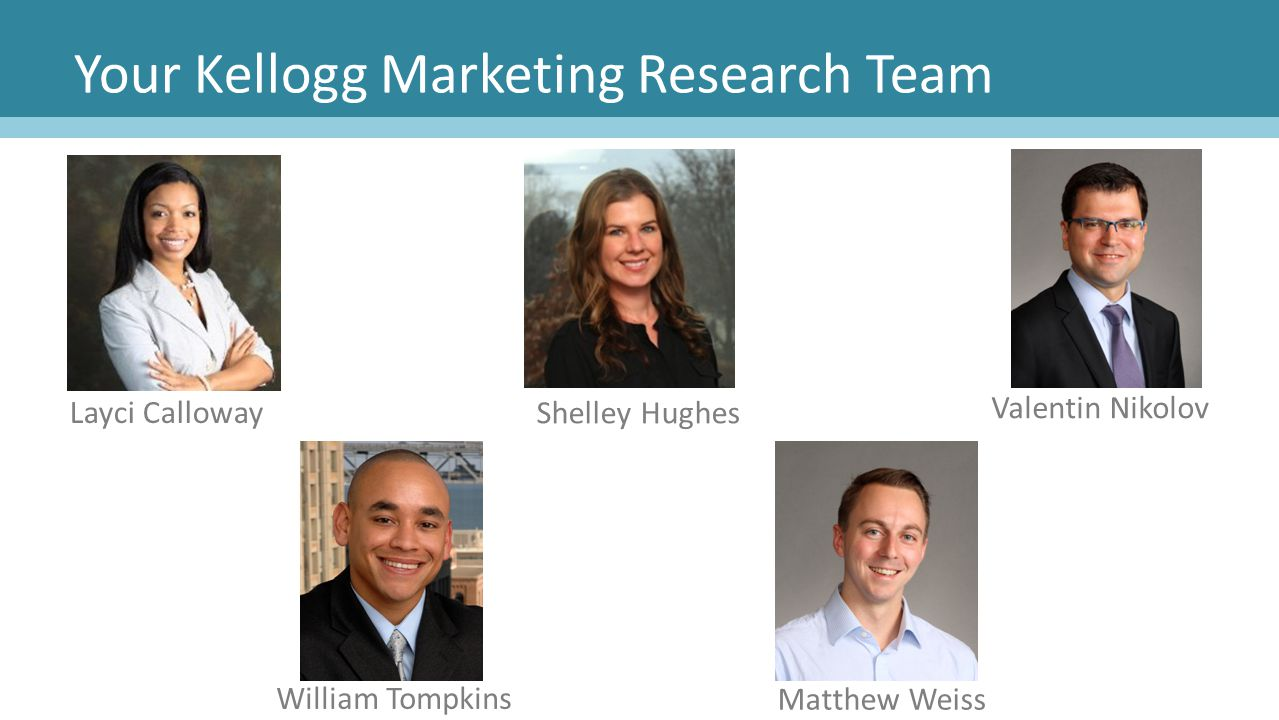 Your Kellogg Marketing Research Team