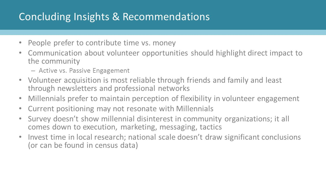 Concluding Insights & Recommendations