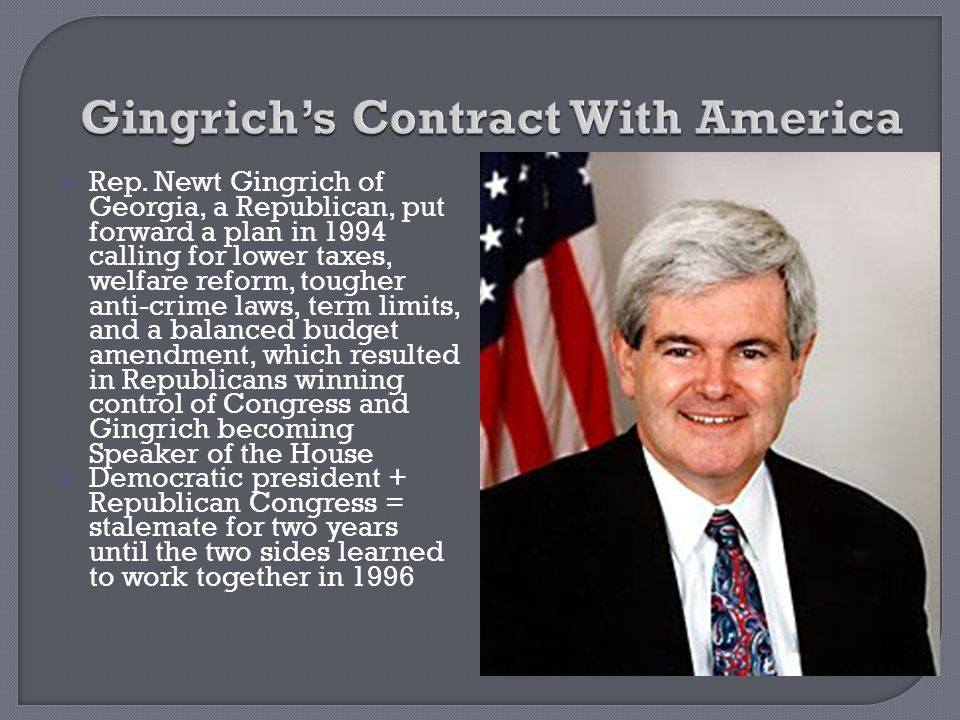 Gingrich's Contract With America