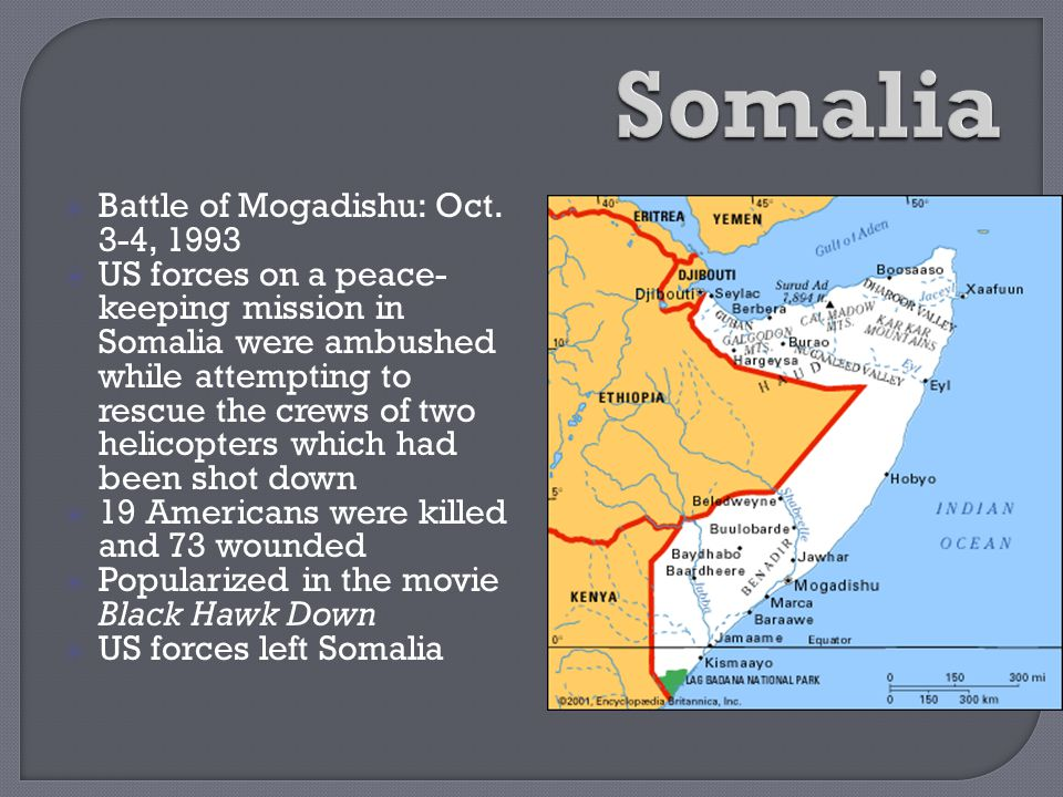 Somalia Battle of Mogadishu: Oct. 3-4, 1993