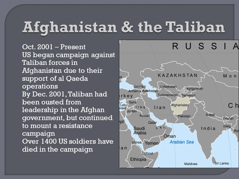 Afghanistan & the Taliban
