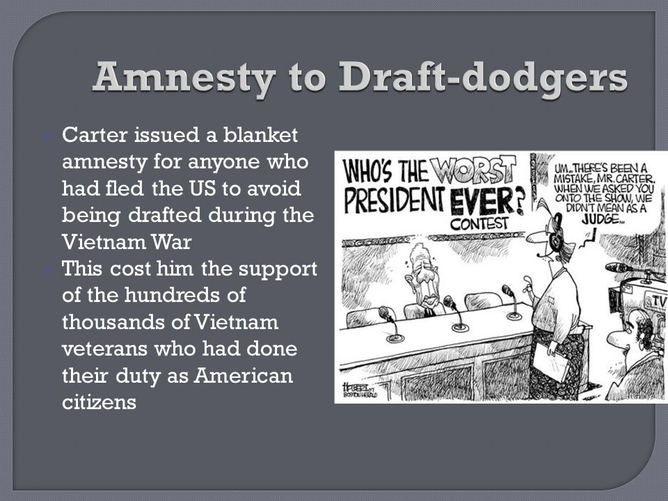 Amnesty to Draft-dodgers