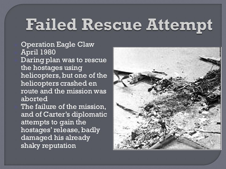 Failed Rescue Attempt Operation Eagle Claw April 1980