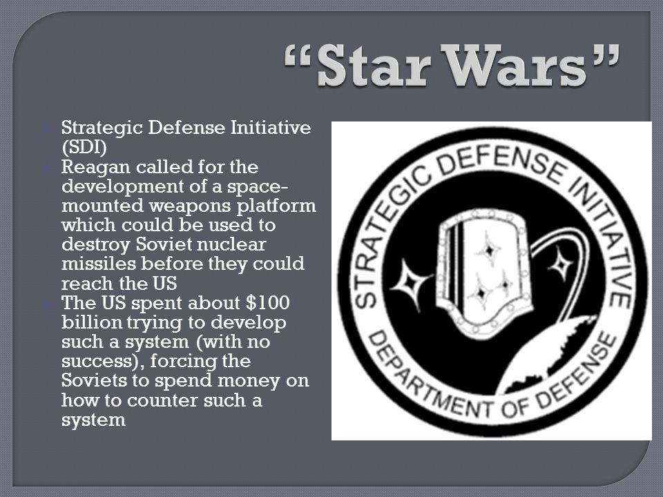 Star Wars Strategic Defense Initiative (SDI)
