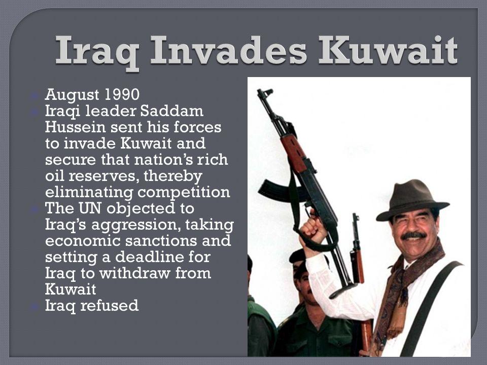 Iraq Invades Kuwait August 1990