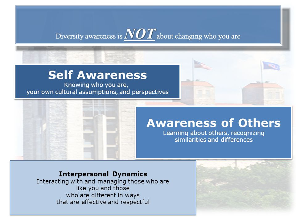 Diversity awareness is NOT about changing who you are