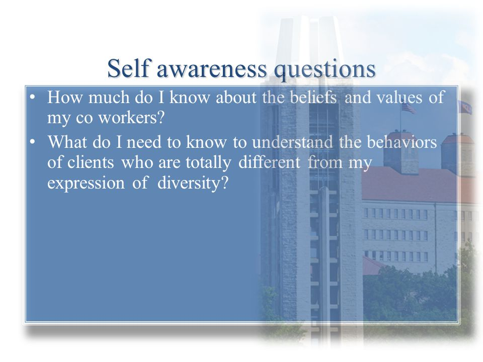 Self awareness questions