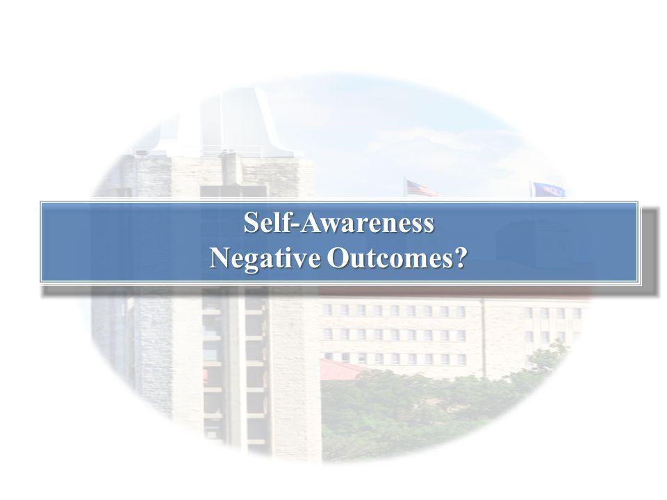 Self-Awareness Negative Outcomes