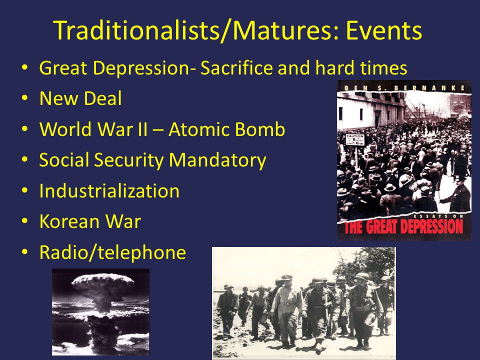 Traditionalists/Matures: Events