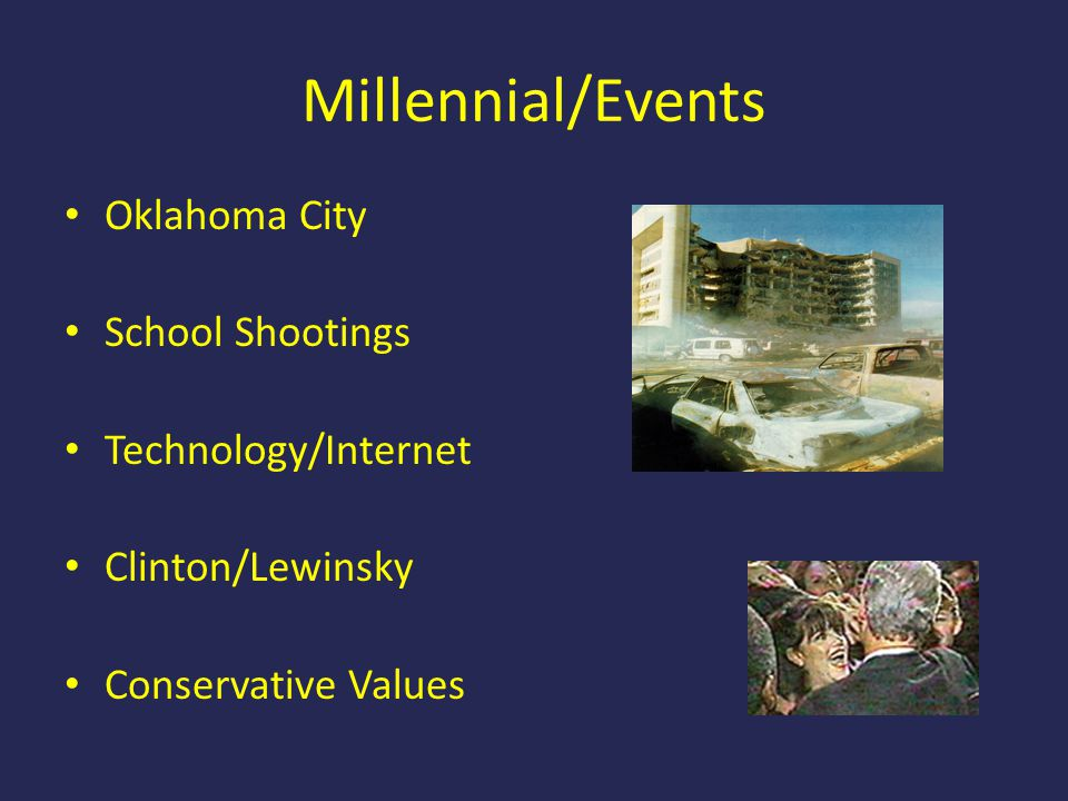 Millennial/Events Oklahoma City School Shootings Technology/Internet