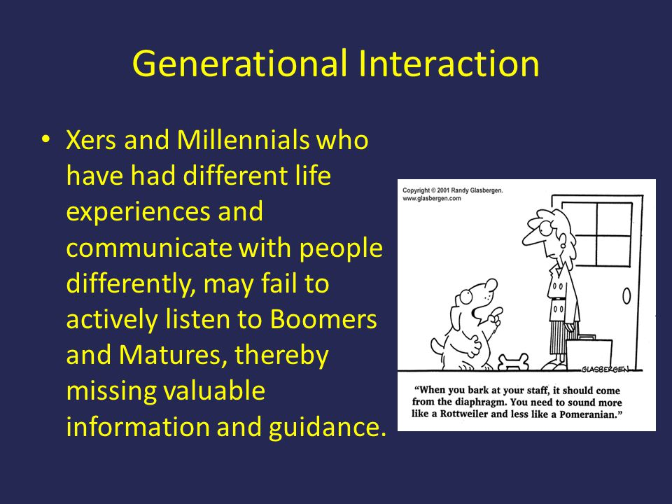 Generational Interaction