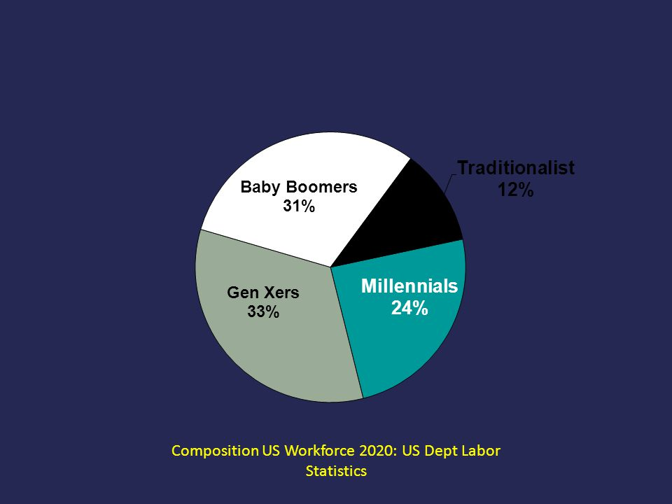 Composition US Workforce 2020: US Dept Labor Statistics