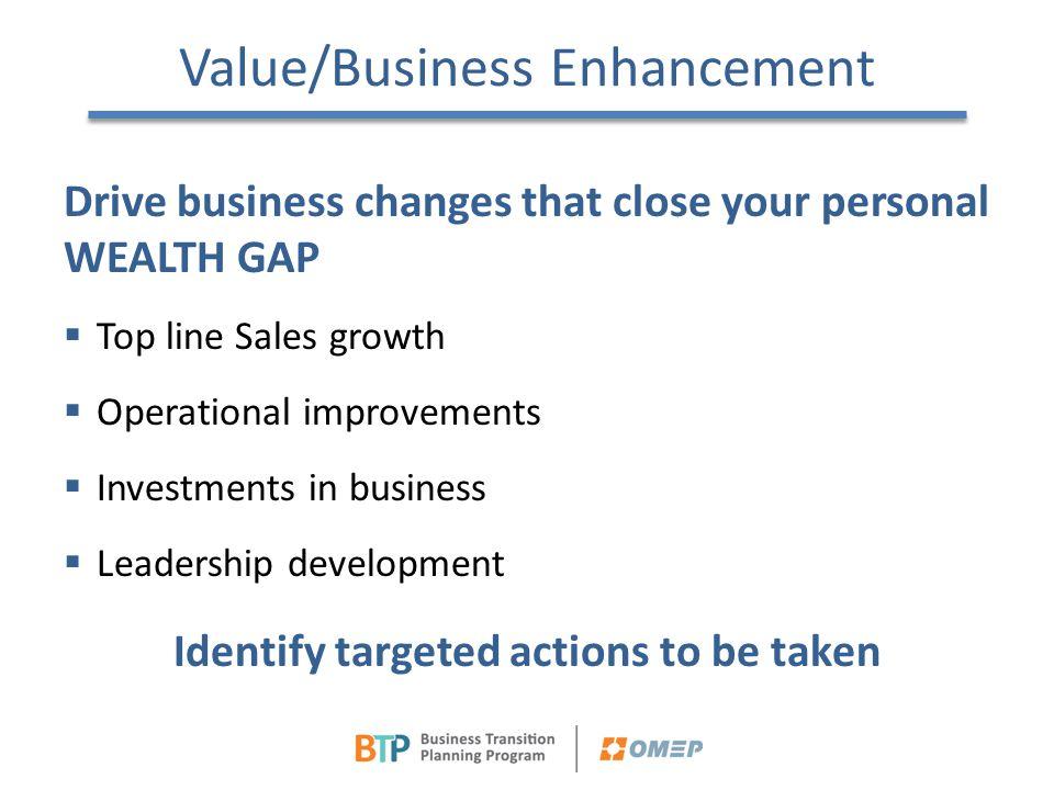 Value/Business Enhancement