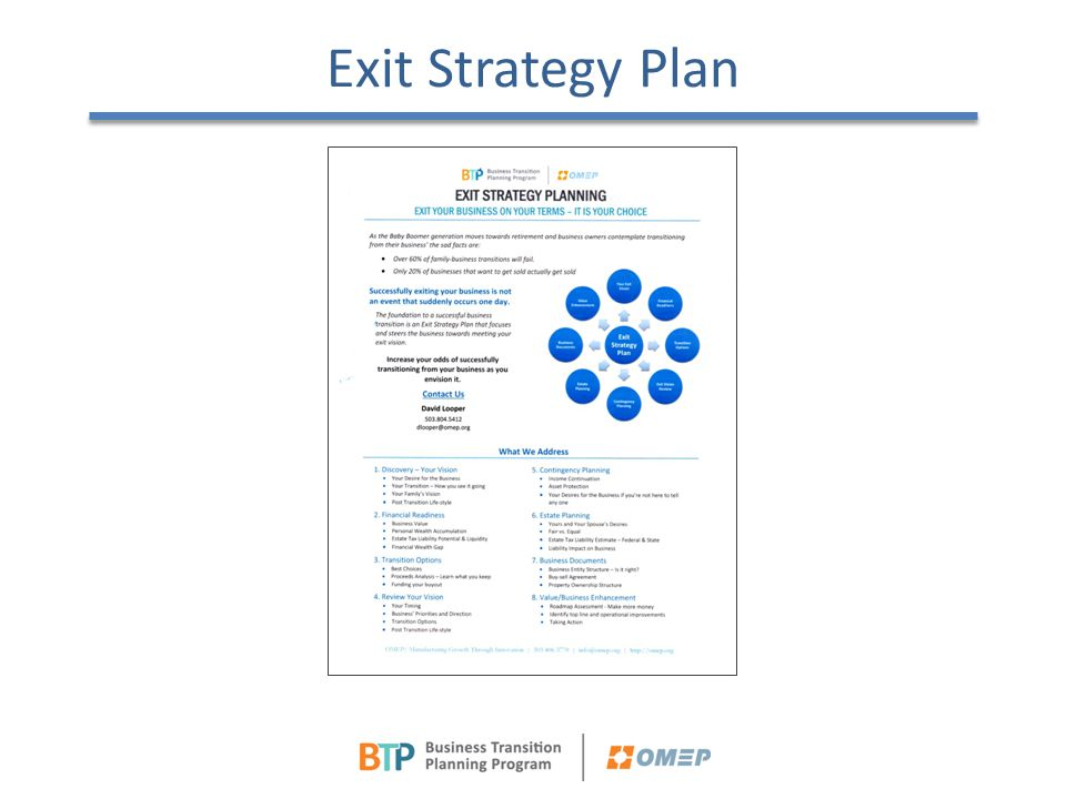 Exit Strategy Plan