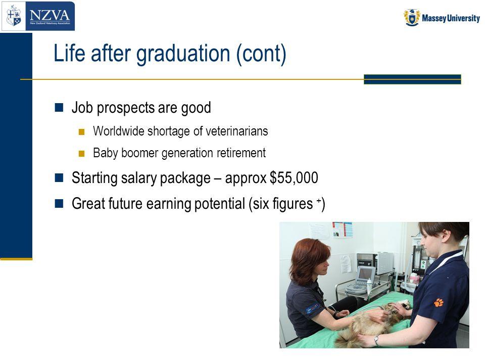 Life after graduation (cont)