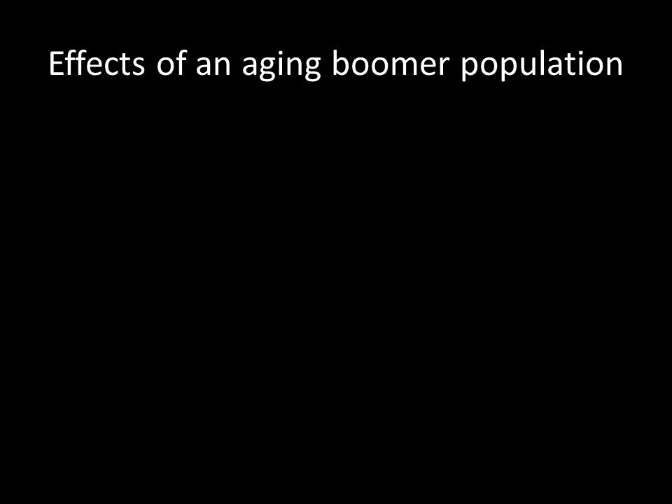 Effects of an aging boomer population