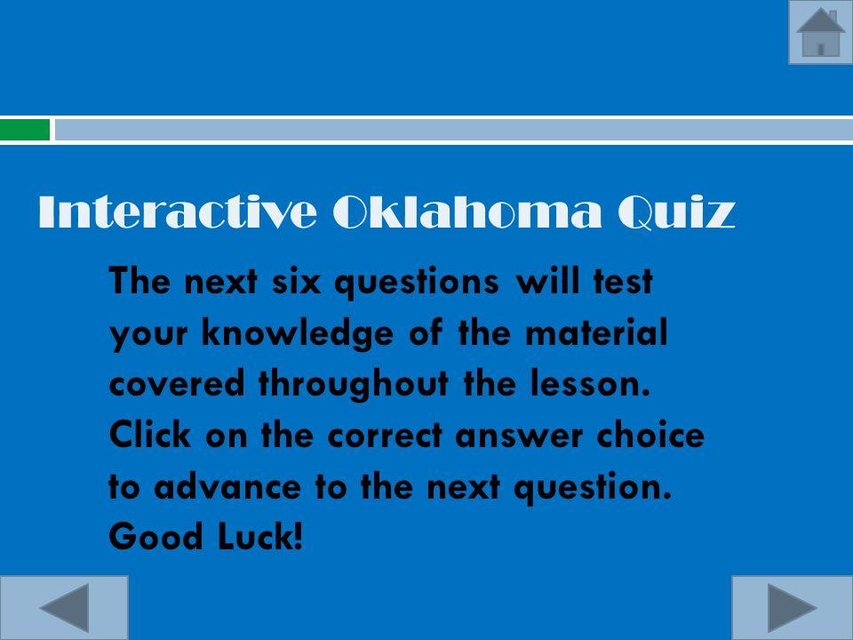 Interactive Oklahoma Quiz