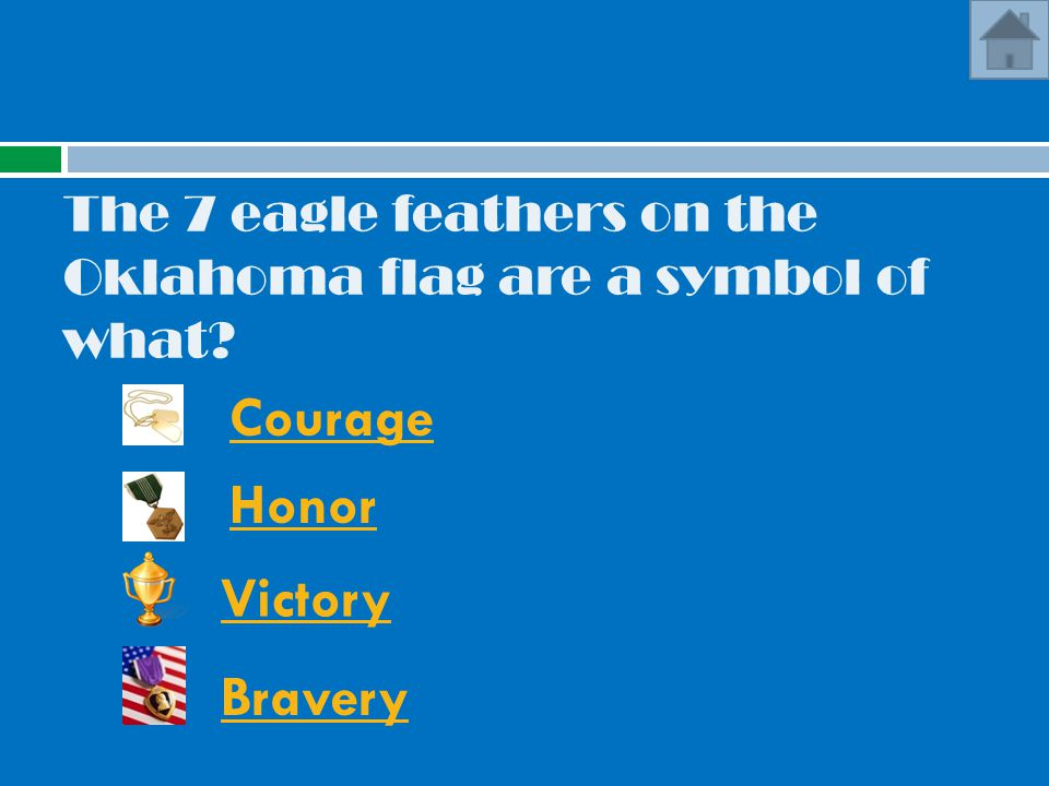 The 7 eagle feathers on the Oklahoma flag are a symbol of what