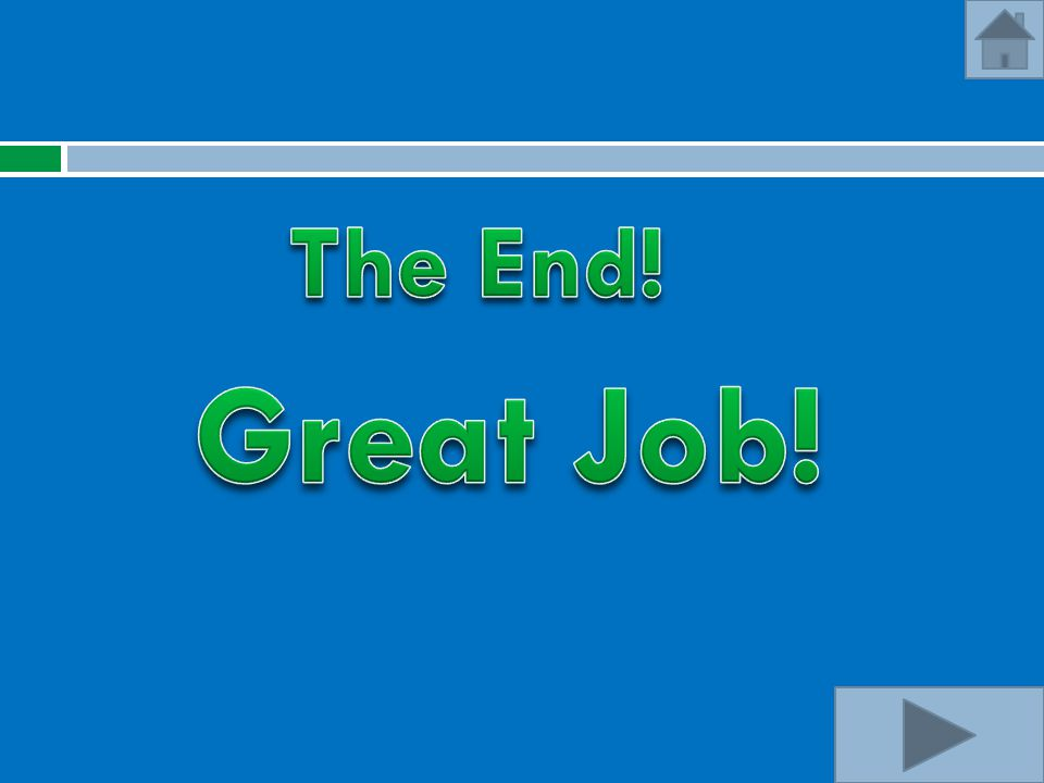 The End! Great Job!