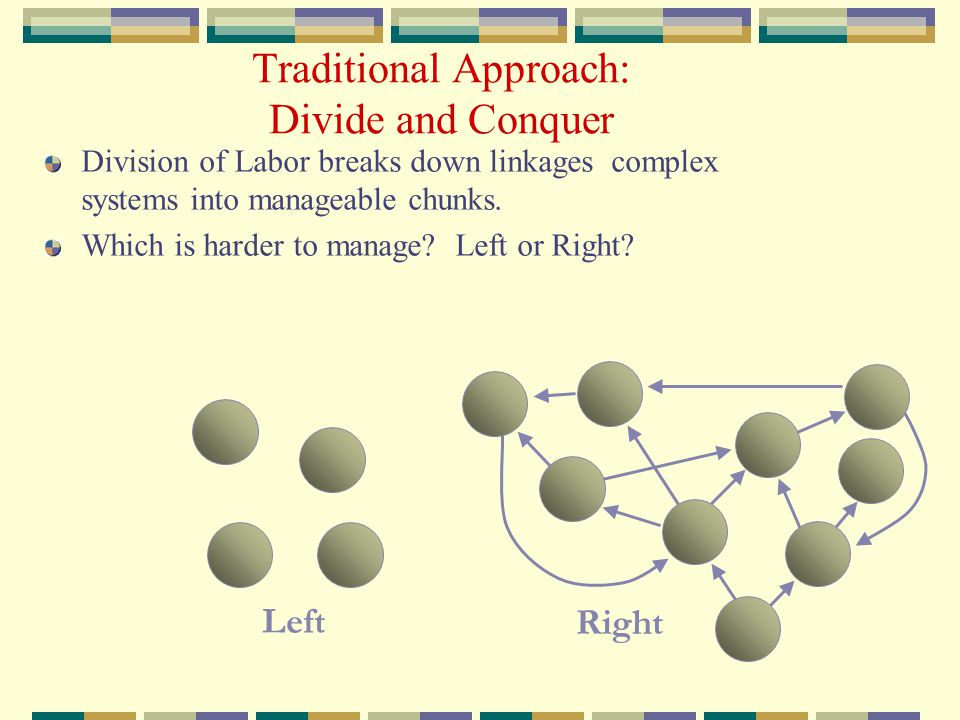 Traditional Approach: Divide and Conquer