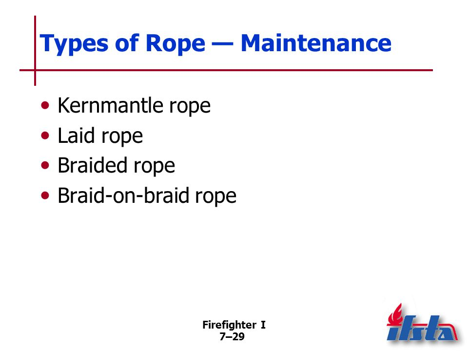 Maintaining Rope Log When rescue rope is purchased, it must be permanently identified.