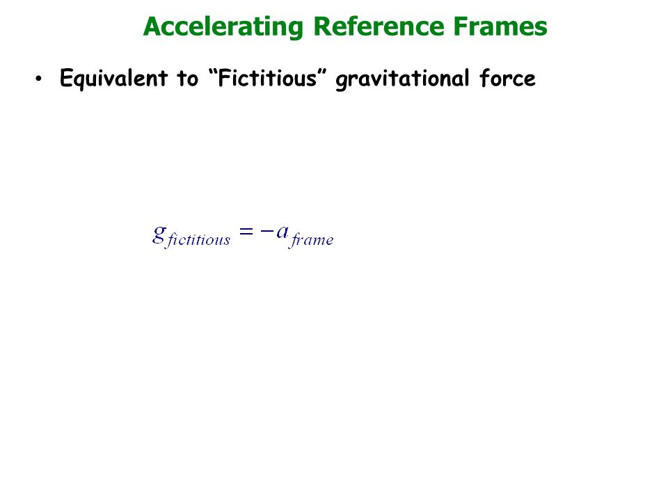 Accelerating Reference Frames