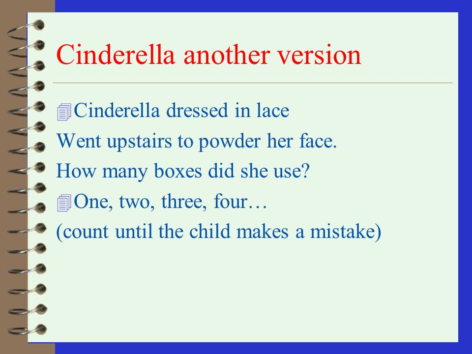 Cinderella another version