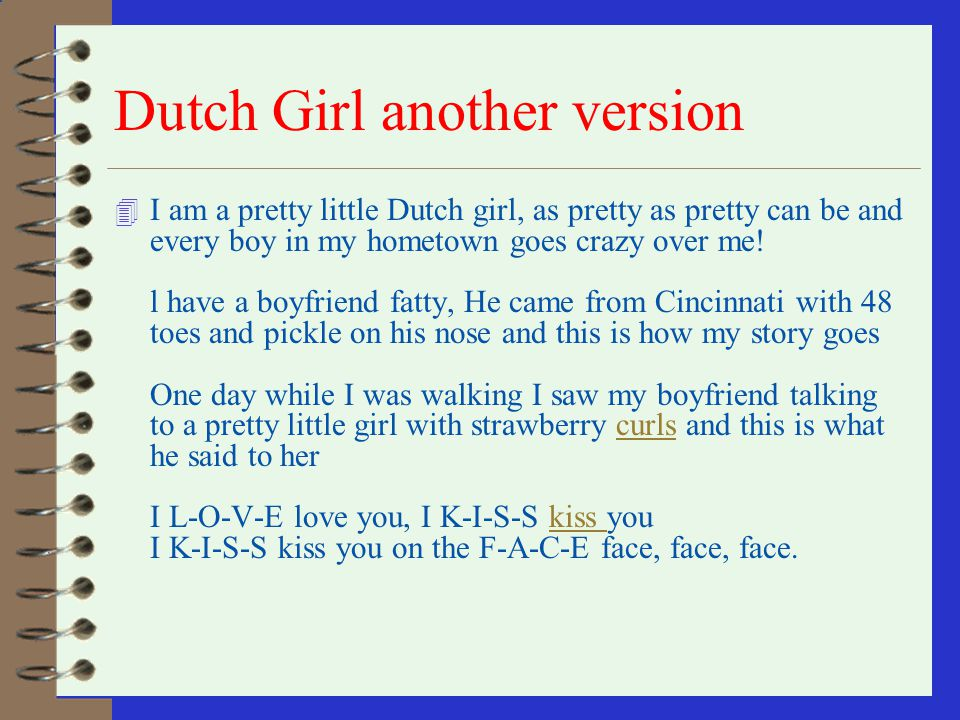 Dutch Girl another version