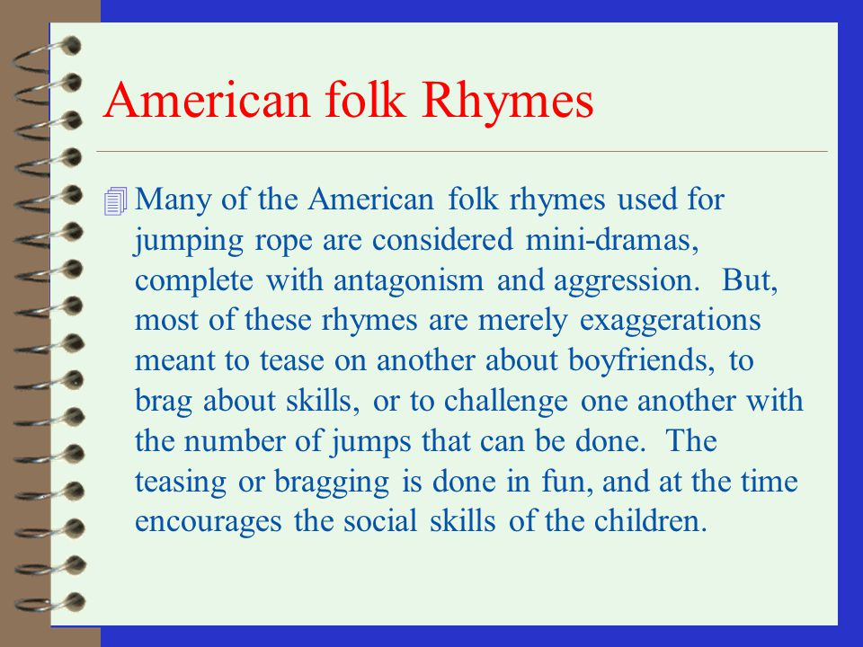 American folk Rhymes