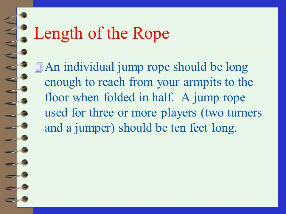 Length of the Rope