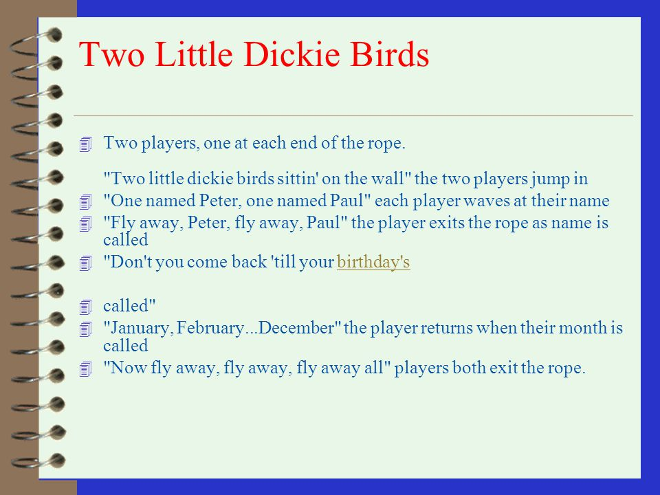 Two Little Dickie Birds