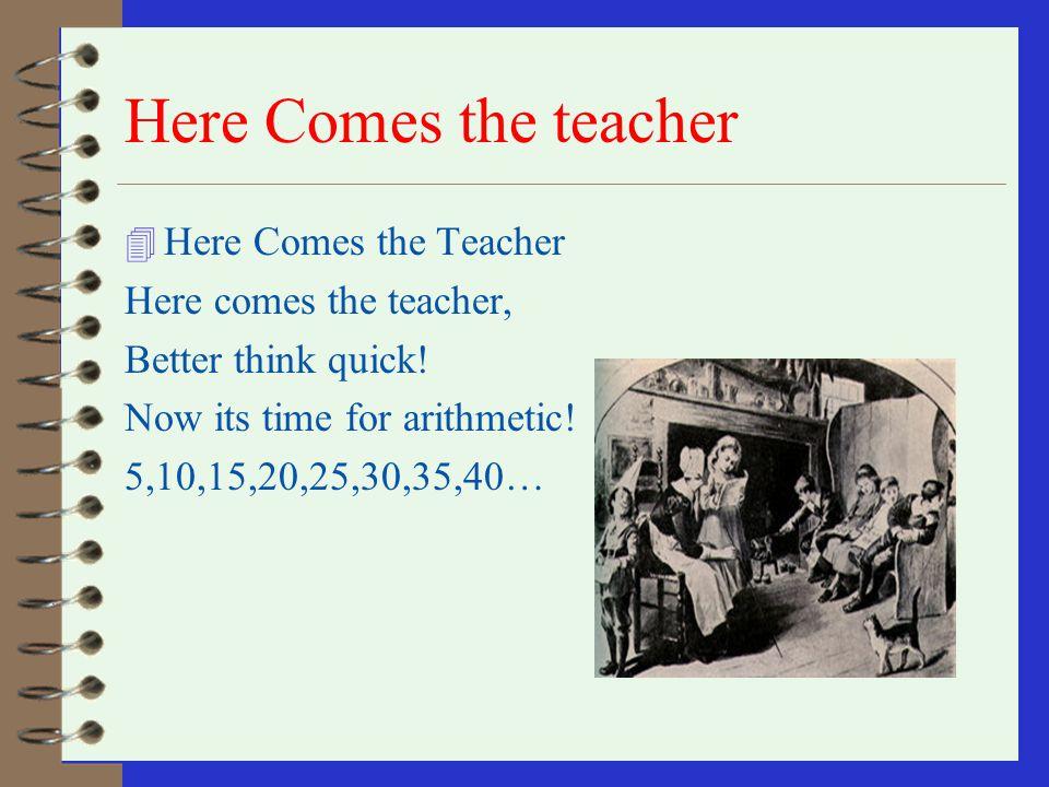 Here Comes the teacher Here Comes the Teacher Here comes the teacher,