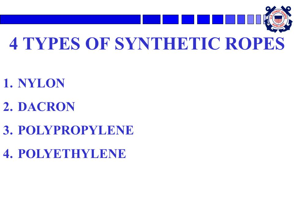 4 TYPES OF SYNTHETIC ROPES