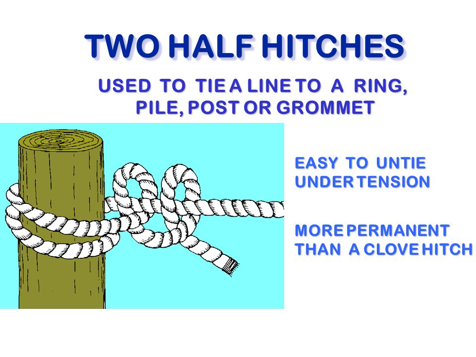 Post Tensioning Grommet : Seamanship ch marlinspike ppt video online