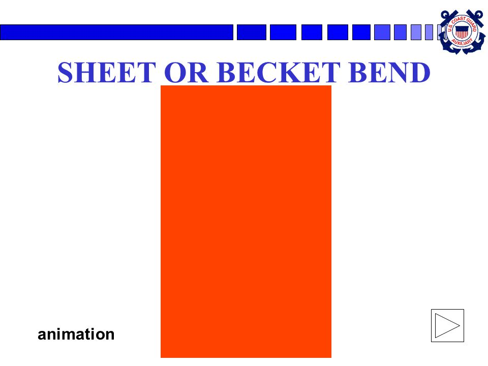 SHEET OR BECKET BEND animation