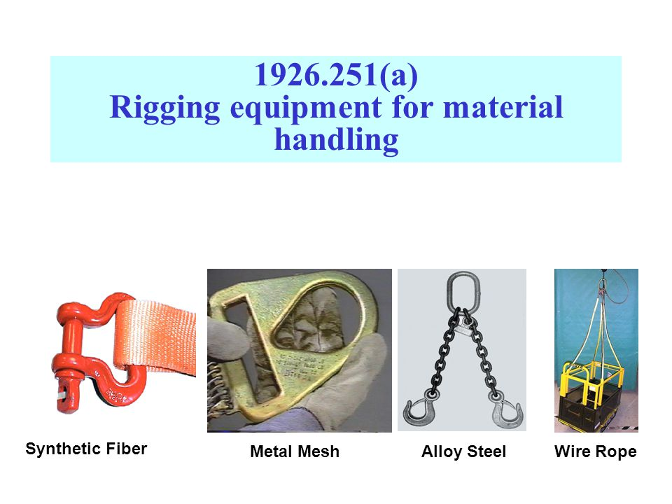 1926.251(a) Rigging equipment for material handling