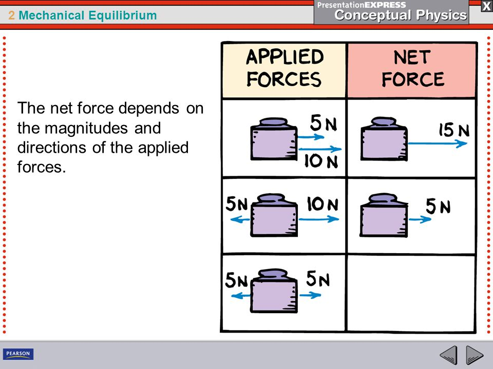 The net force depends on the magnitudes and directions of the applied forces.