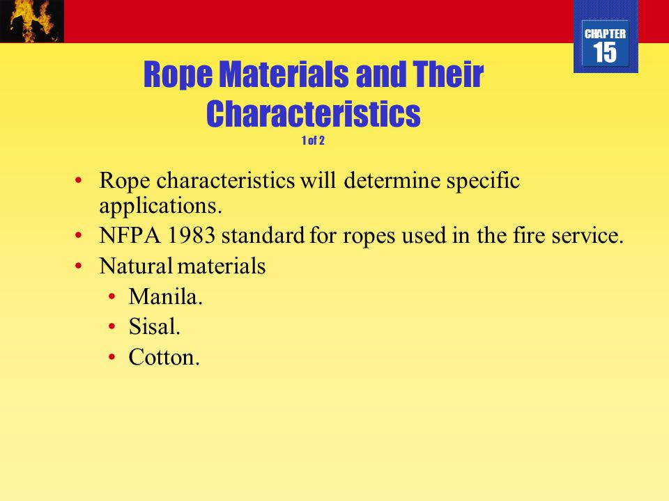 Rope Materials and Their Characteristics 1 of 2