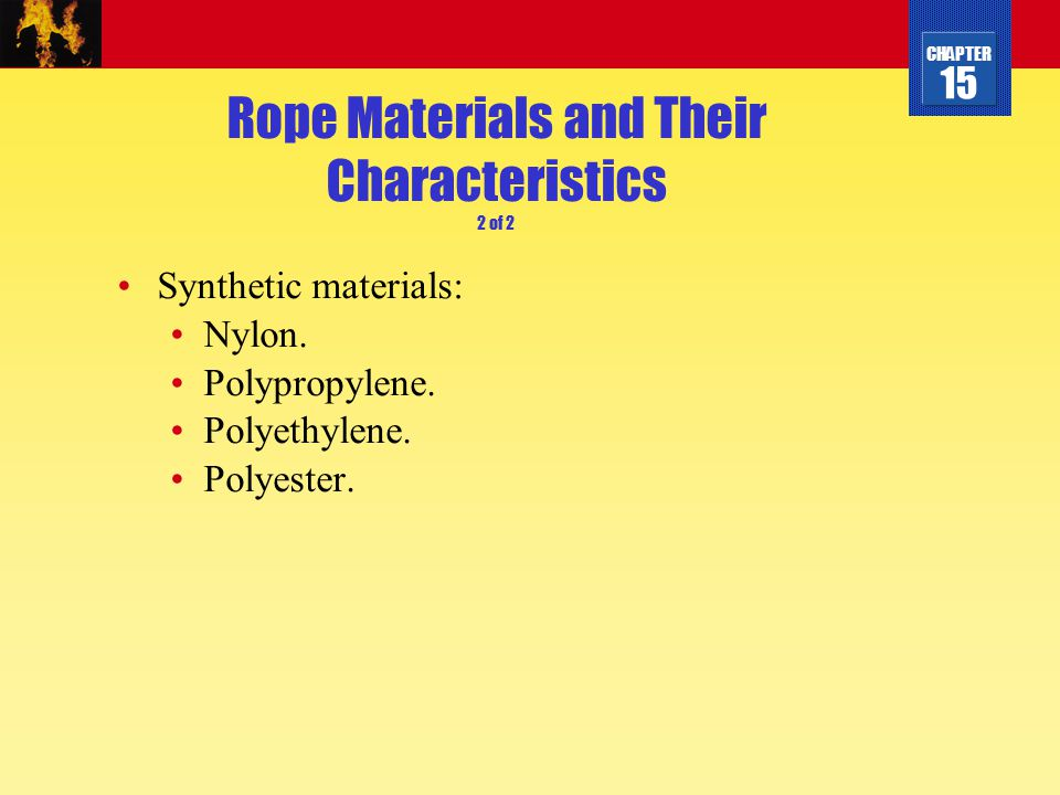 Rope Materials and Their Characteristics 2 of 2