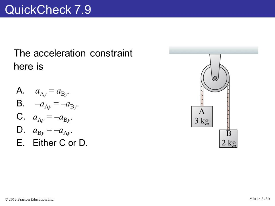 QuickCheck 7.9 The acceleration constraint here is aAy = aBy.
