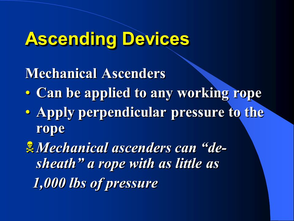 Ascending Devices Mechanical Ascenders